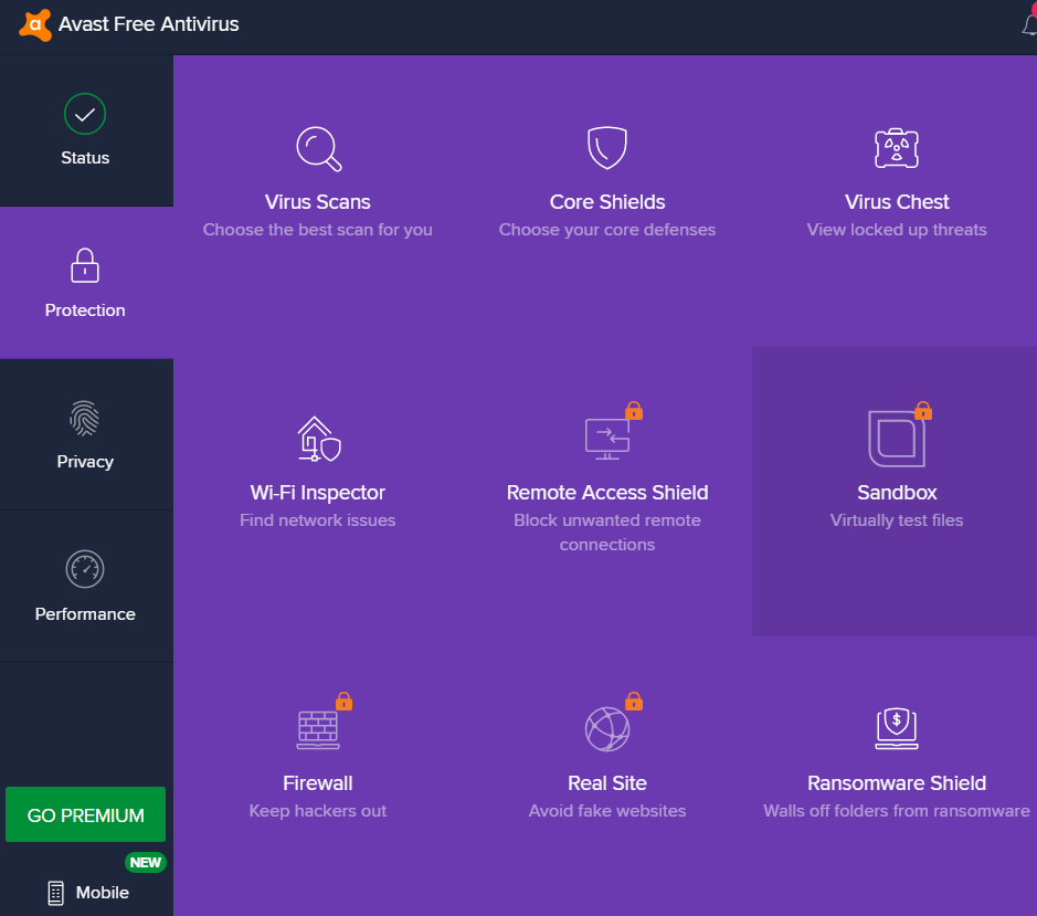 avast protection features
